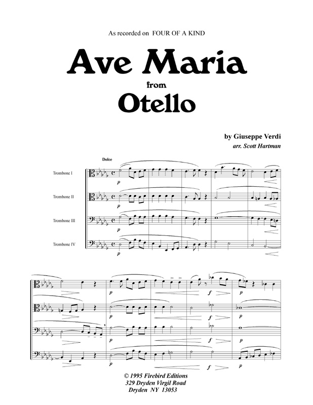 Ave Maria Firebird Editions